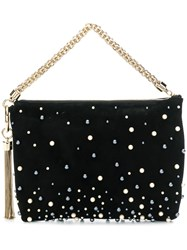 Jimmy Choo Callie Pearl Embellished Clutch Black