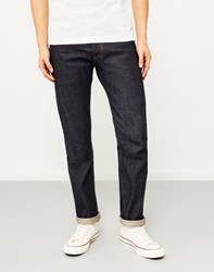 Hawksmill Japanese Selvedge Dry Loose Tapered Fit Jeans Blue