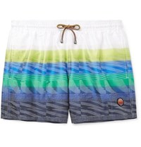 Missoni Mid Length Printed Swim Shorts White
