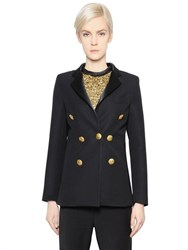 Ellery Double Breasted Wool Suiting Jacket