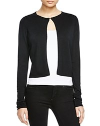 T Tahari Cropped Cardigan Black