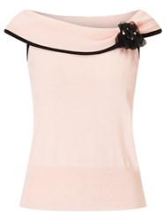 Jacques Vert Knit Bardot Top Light Pink
