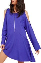 Free People Women's Clear Skies Cold Shoulder Tunic Violet