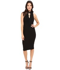 Jessica Simpson Bandage Knit Midi Dress Black Women's Dress