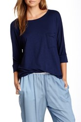 Frenzii Boatneck Blouse Blue