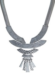 Mint Velvet Silver Tribal Necklace