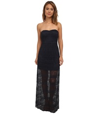 Gabriella Rocha Lace Tube Maxi W Bow Cutout Back Dress Midnight Women's Dress Navy