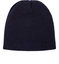 The Elder Statesman Men's Rib Knit Cashmere Beanie Navy