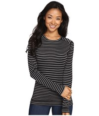 Smartwool Nts Mid 250 Pattern Crew Top Charcoal Heather Black Women's Long Sleeve Pullover Gray