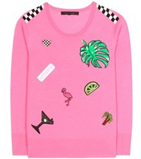 Marc Jacobs Embellished Wool Sweater Pink