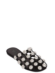 Alexander Wang Amelia Studded Suede Mules