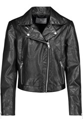 Tart Collections Justine Faux Leather Biker Jacket Black