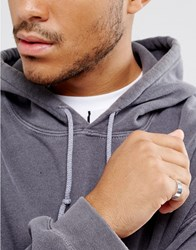 Asos Plain Band Pinky Ring In Silver Silver
