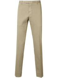 Boglioli Slim Fit Suit Trousers Men Cotton Spandex Elastane 56 Nude Neutrals