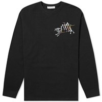 J.W.Anderson Jw Anderson Long Sleeve Camelot Embroidered Tee Black