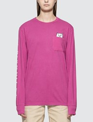 Ripndip Lord Nermal Long Sleeve T Shirt Pink