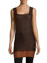 Missoni Sleeveless Ribbed Tunic Brown