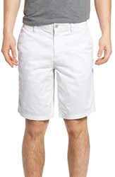 John Varvatos Men's Star Usa Triple Needle Shorts White