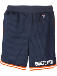 Undefeated 'Blazer' Shorts Blue