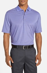 Bobby Jones 'Xh20 Pencil Stripe' Regular Fit Four Way Stretch Golf Polo Grape