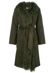 P.A.R.O.S.H. Belted Robe Green