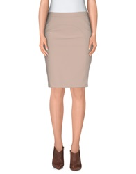 Scee By Twin Set Knee Length Skirts Beige