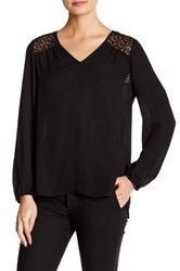 Daniel Rainn Crochet Blouse Black