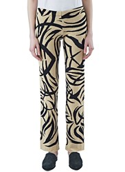 House Of Had Tribai Straight Leg Knit Pants Beige