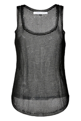 Anthony Vaccarello Mesh Tank Top In Black