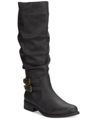 American Living Jasmin Tall Slouchy Boots A Macy's Exclusive Style Black