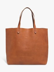Madewell Transport Leather Tote Bag Brown