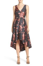 Eliza J Women's Floral Jacquard Fit And Flare Dress