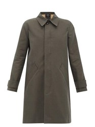A.P.C. Louise Checked Cotton Overcoat Dark Green