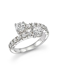 Bloomingdale's Diamond Two Stone Wrap Ring In 14K White Gold 1.20 Ct. T.W.