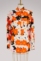 Kenzo Jackie Oversized Floral Cotton Shirt Multico