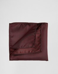 French Connection Conection Pocket Square Red