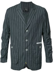 Undercover Striped Blazer Blue