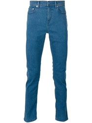 Neil Barrett Straight Leg Jeans Men Cotton Polyester Spandex Elastane 32 Blue
