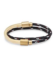 Miansai Half Cuff Bracelet Black Red Gold