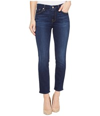 7 For All Mankind Kimmie Crop In Santiago Canyon Santiago Canyon Women's Capri Blue