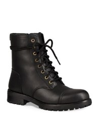 Ugg Kilmer Lace Up Leather Booties Black