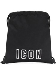Dsquared2 Icon Drawstring Backpack Black
