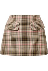 Maggie Marilyn Short And Sweet Checked Woven Mini Skirt Sand