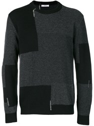 Mauro Grifoni Colour Block Sweater Grey
