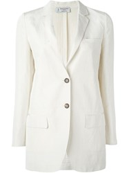Alberto Biani Two Button Blazer White