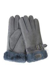 Australia Luxe Collective Genuine Shearling Cuff Gloves Gray