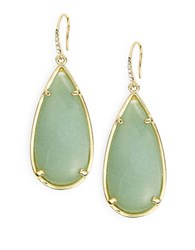 Abs By Allen Schwartz Teardrop Drop Earrings Green