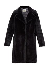 Herno Padded Faux Fur Coat Black