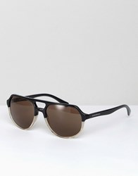 Emporio Armani Aviator Sunglasses In Black 57Mm