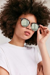 Urban Outfitters Poolside Half Frame Sunglasses Green